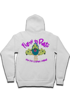 "Load image into Gallery viewer, ""Fresh to death"" zip hoody"