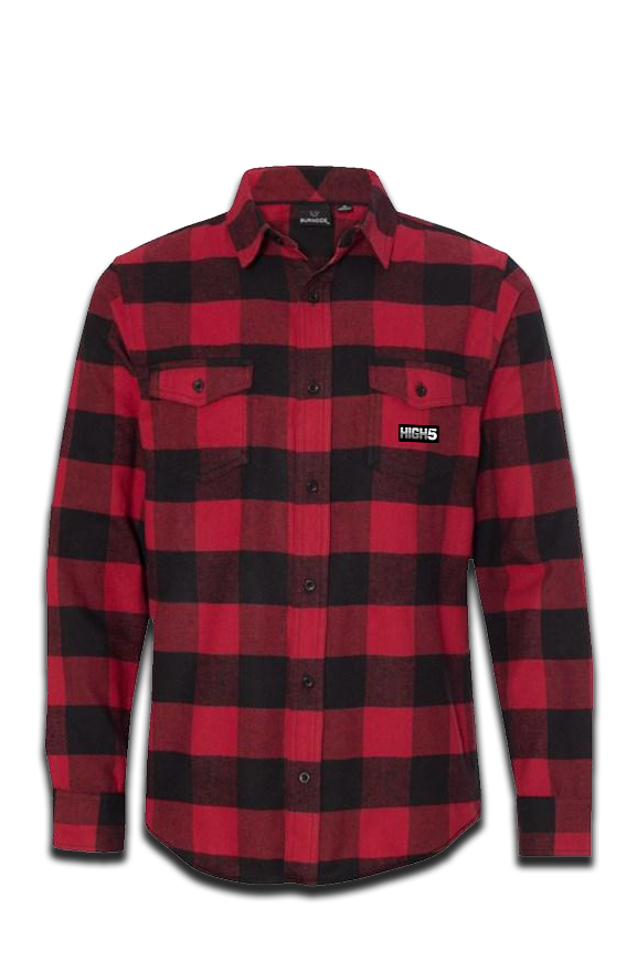 High Five Long Sleeve Flannel Red And Black LumberJack