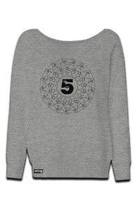 High Five Spiral - Womens Wide Neck Sweatshirt