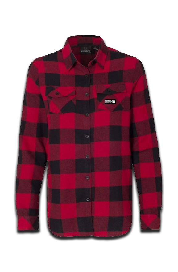 High Five Women's Long Sleeve Flannel Red & Black LumberJack