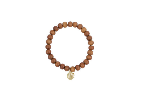 AGxBB Sandalwood w/Brass Teardrop Charm Bracelet - Site exclusive