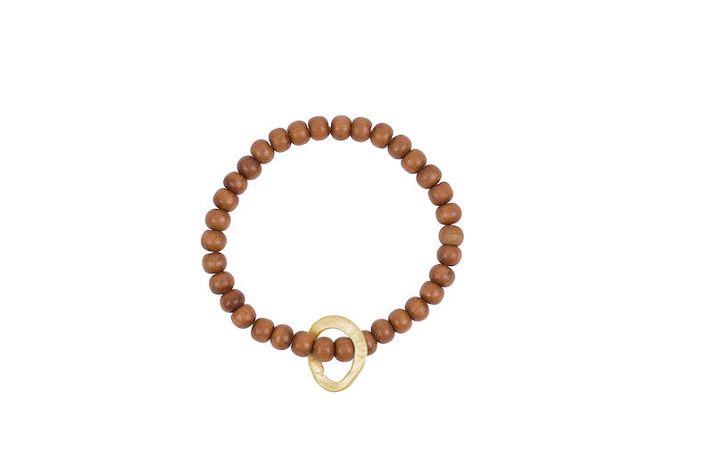 AGxBB Sandalwood w/Brass Floating Link Bracelet - Site exclusive