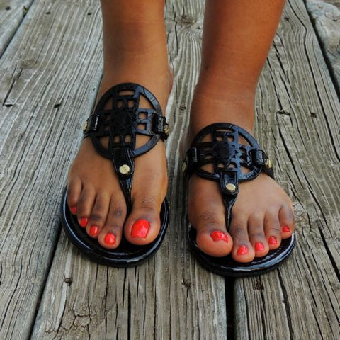 Trinity Sandals in Black