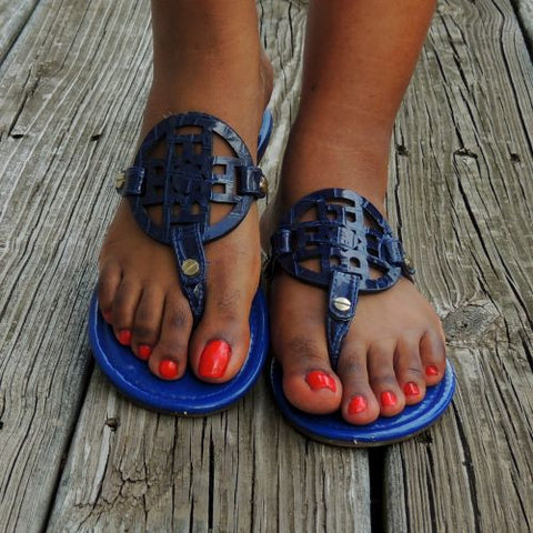 Trinity Sandals in Blue