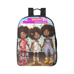 Roller Skate Girls Large Backpack