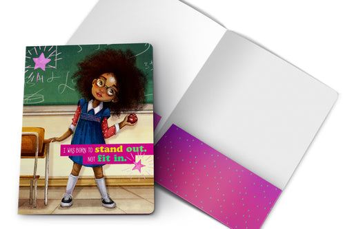 School Girl - 2 Pocket Folder