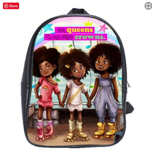 Roller Skate Girls Mini Backpack