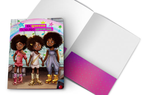 Roller Skate Girls - 2 Pocket Folder
