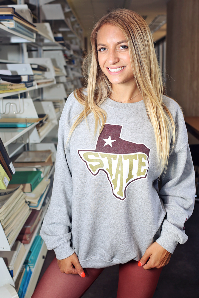 San Marvelous : TX State Classic Sweatshirt (Maroon/Gold)