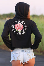 San Marvelous : SMTX Rose Crop Hoodie