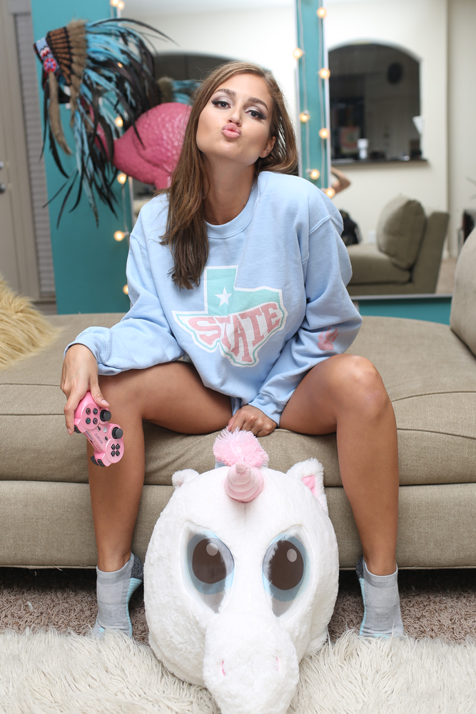 San Marvelous : State Sweatshirt - Light Blue