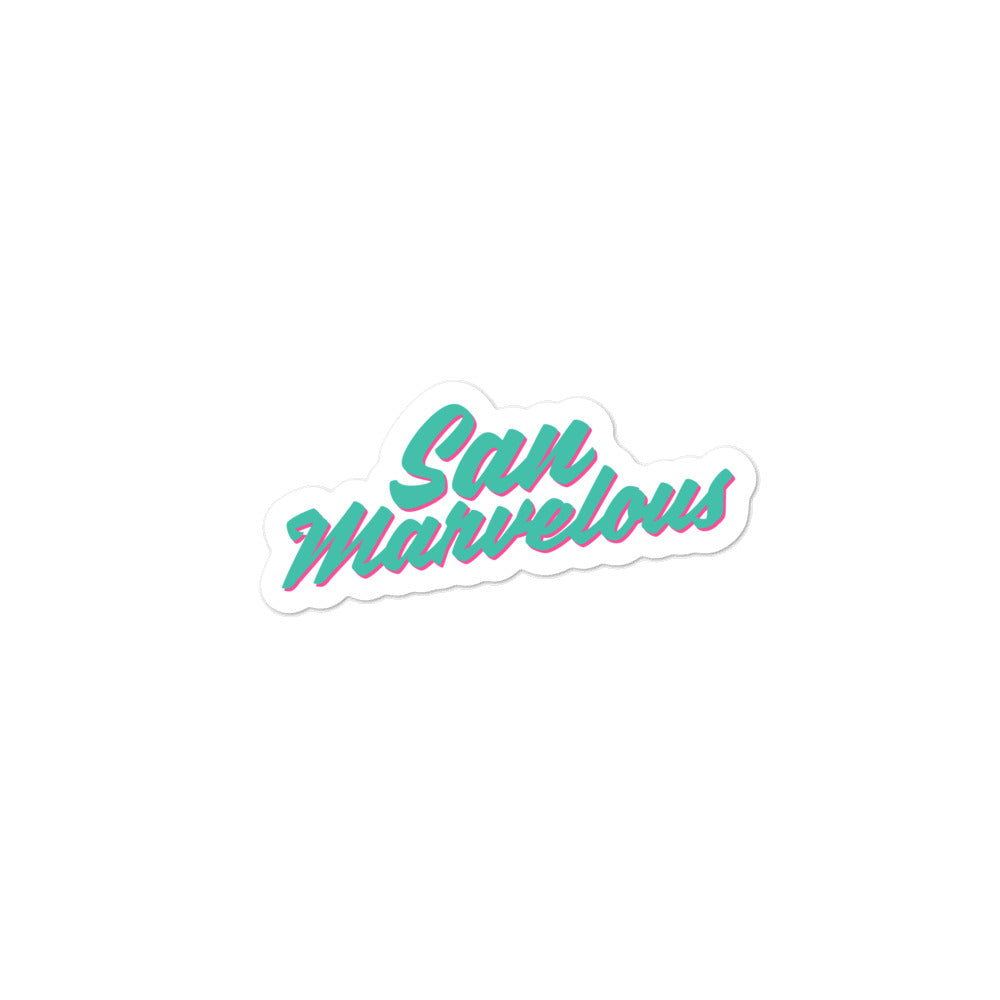 San Marvelous Sticker- Turquoise / Pink