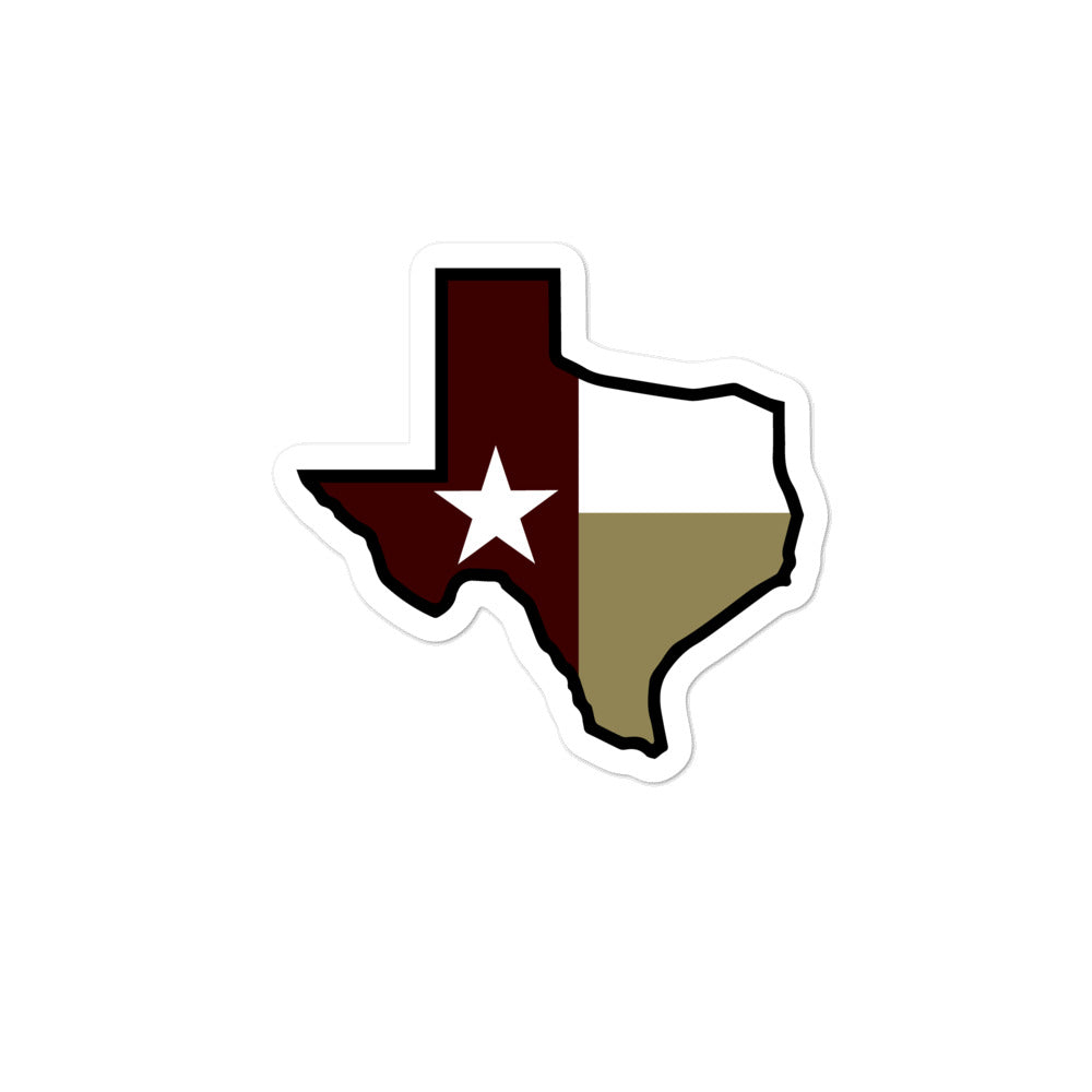 Texas State Flag - Maroon / Gold