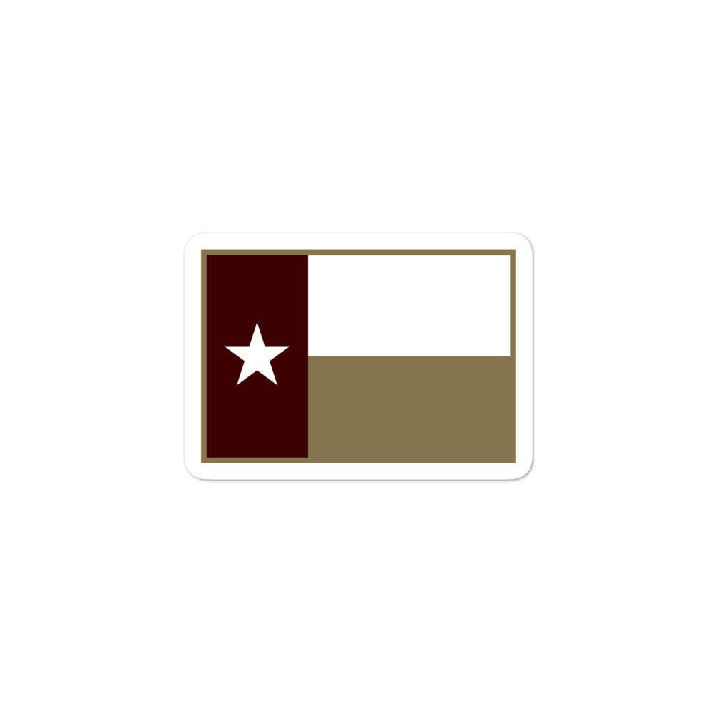 Texas Flag Sticker - Maroon / Gold