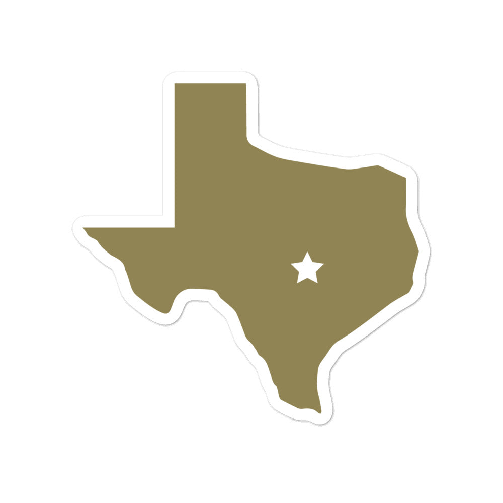 """Home is Texas"" Sticker - Gold"
