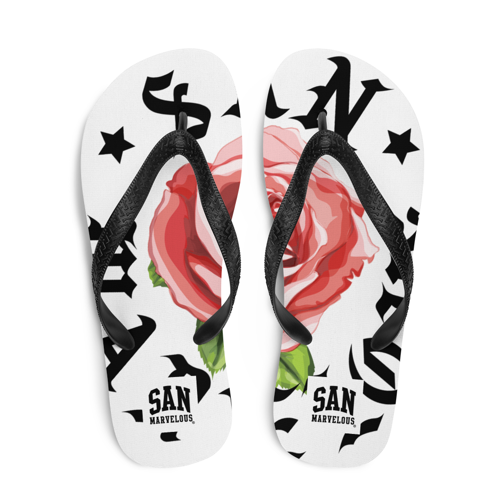 San Marvelous : SMTX Red Rose - All Over Print Flip-Flops