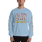San Marvelous : 90's Pattern Sweatshirt with Sleeve Print