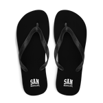 San Marvelous : Classic Black - All Over Print Flip-Flops