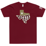 State T-Shirt - Maroon