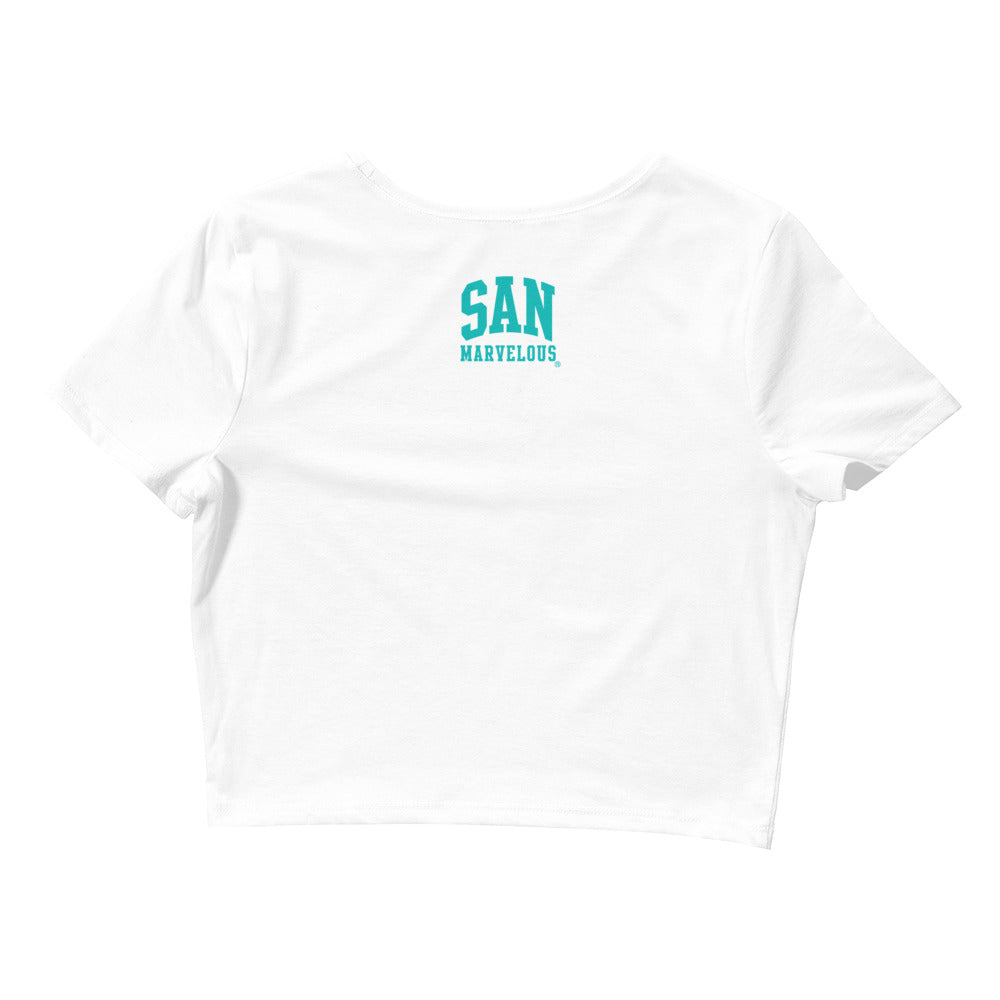San Mo Crop Top - White