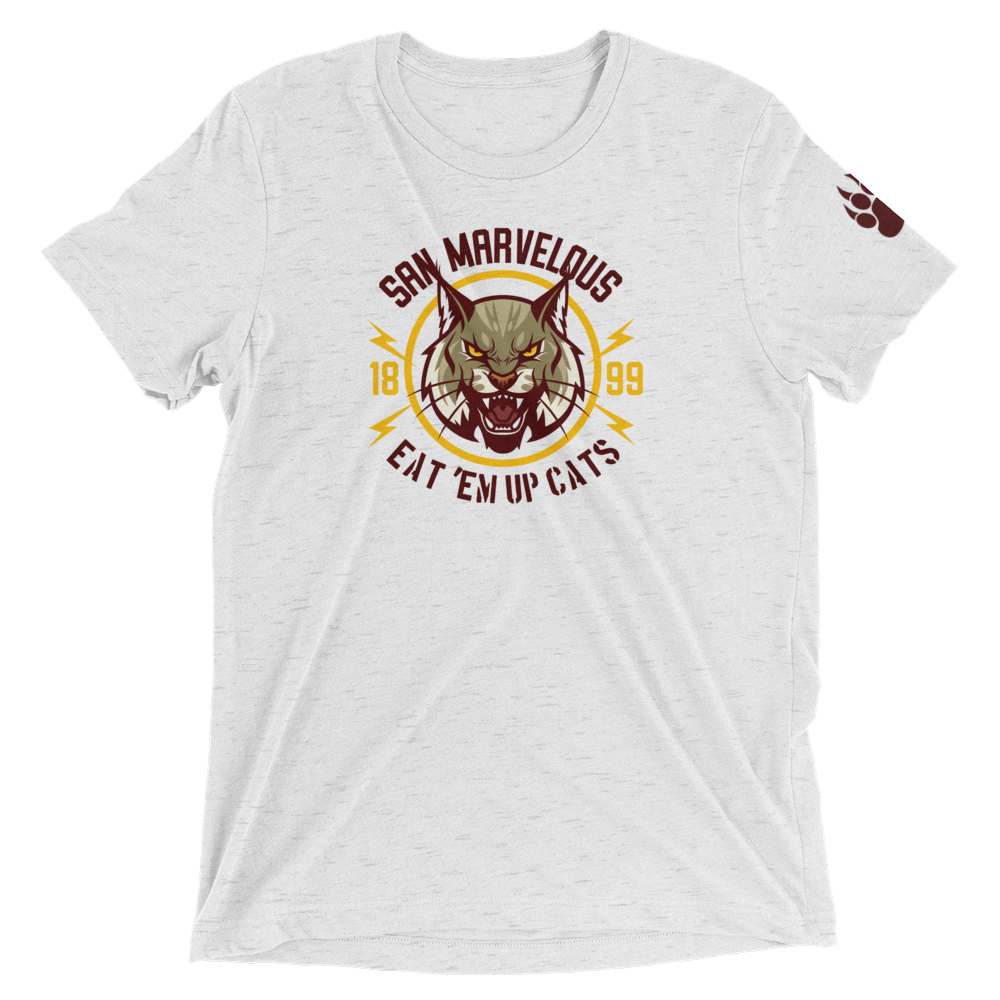 San Marvelous : Bobcat - Premium Triblend Short Sleeve T-Shirt