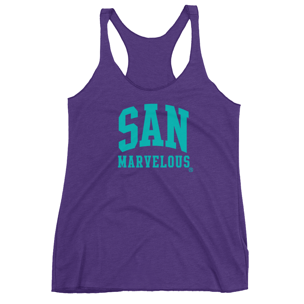 San Marvelous : Signature Logo - Women's Tri-Blend Racerback Tank (Lots of colors available!)