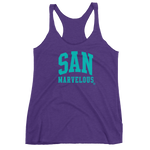 San Marvelous : Signature Logo - Women's Tri-Blend Racerback Tank