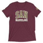 San Marvelous : Signature SM Logo - Premium short sleeve tri-blend t-shirt