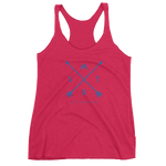 San Marvelous : SM Arrow Logo - Women's Tri-Blend Racerback Tank