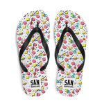 San Marvelous : 90's Aesthetic - All Over Print Flip Flops