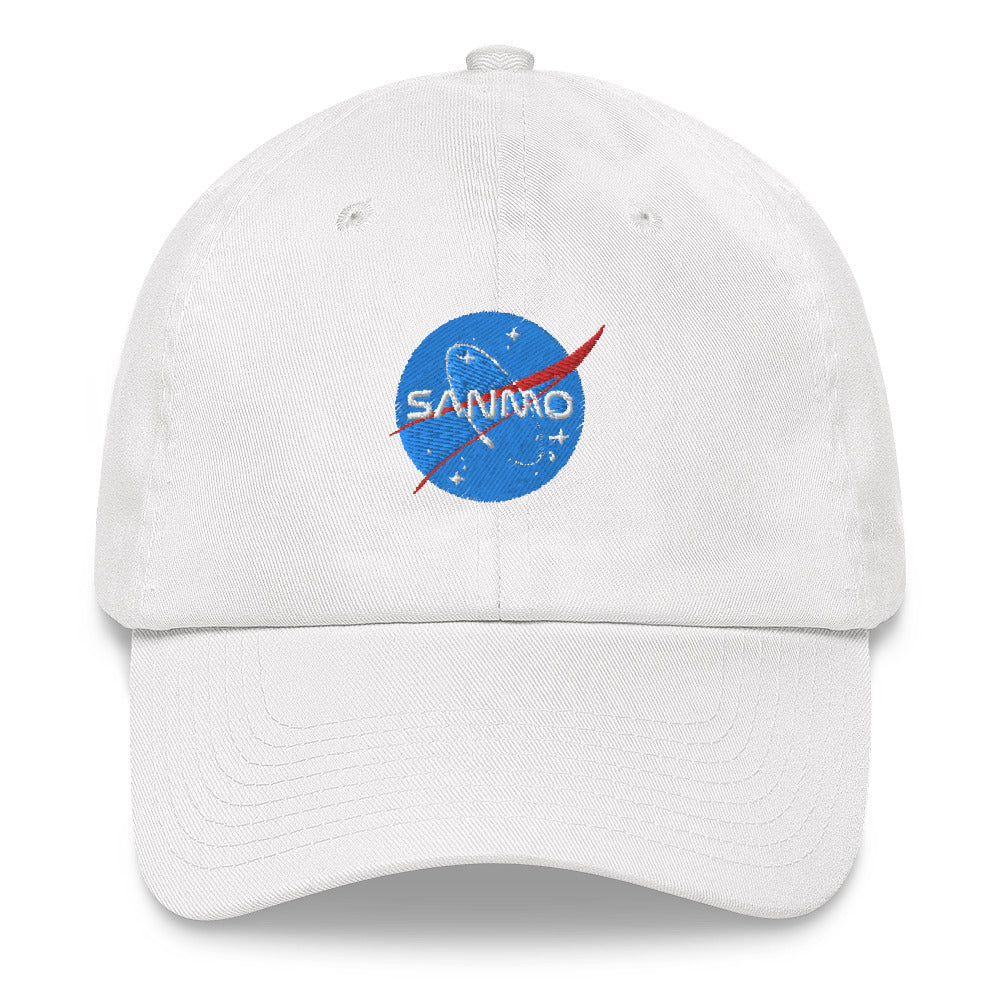 San Mo Galaxy Dad Hat - White