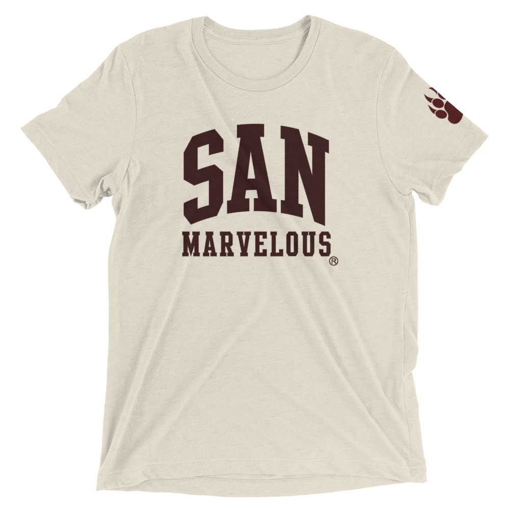 San Marvelous : School Colors - Premium Tri-blend - Short sleeve tee