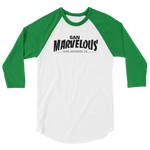 San Marvelous :Thrashed Logo - Unisex 3/4 Sleeve Baseball Tee