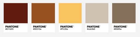 Colour palette for Autumn