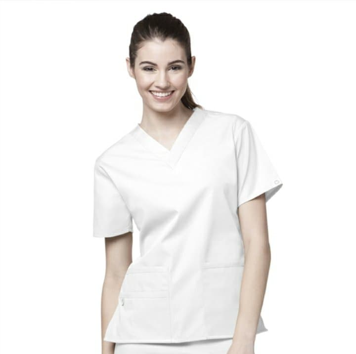 White Origins Scrub Top 6016