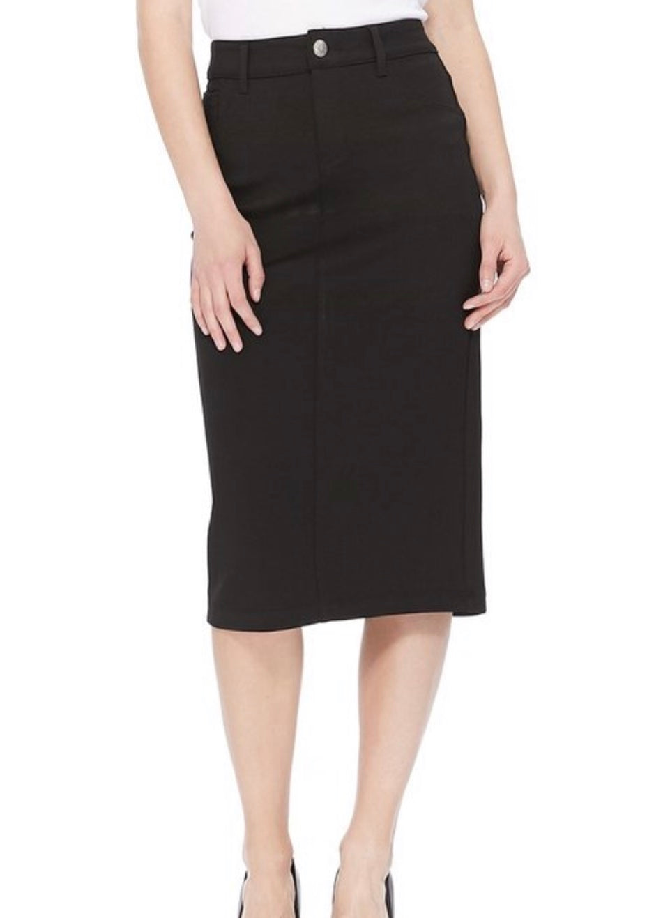 Mid Calf Black Skirt