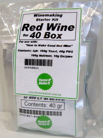 Kit for 40 Boxes of Red Wine