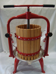 Press T-BAR Manual Fruit Press 20 Wood Basket