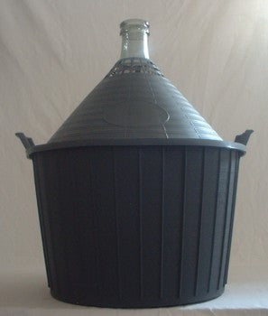 Demijohn 54Lt Narrow Neck With Solid Closed PVC Basket