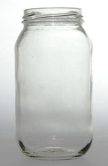 Glass Jar round 500ml flint 63mm Twist Top