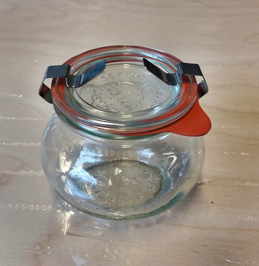 Weck 220ml Preserving Jar With Glass Lid, Rubber Seal And Clamps