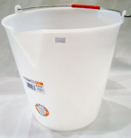Bucket Plastic White 12lt