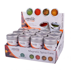 Appetito Magnetic Spice Cans With Clear Window