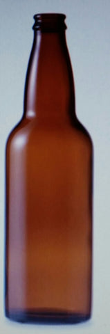 660ml Beer bottles - 20 Pack - Crown Finish 26mm Seal Amber Glass