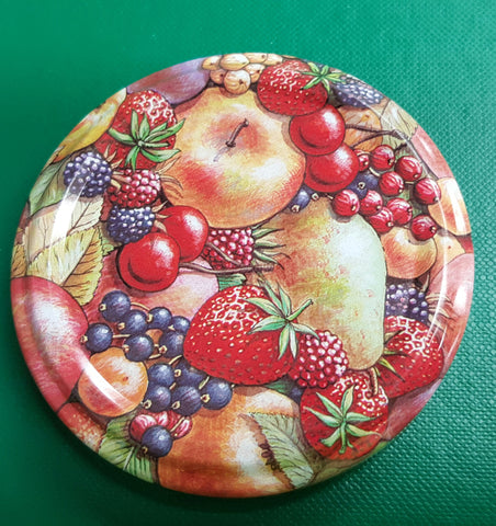 Metal Cap-Lid For Glass Jar 63mm With Fruit Print