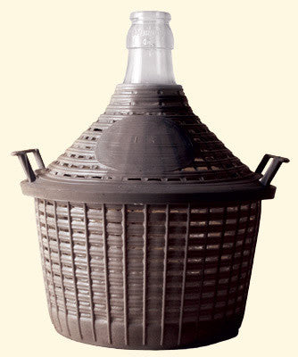 Demijohn 25Lt Narrow Neck With PVC Basket