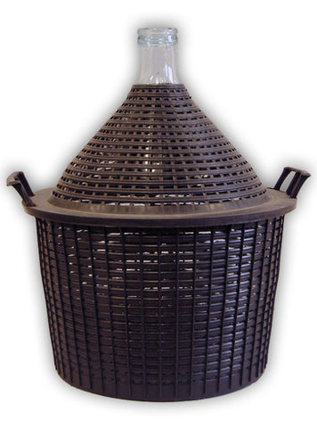 Demijohn 34Lt Narrow Neck With PVC Basket