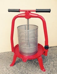 Press T-BAR Manual Fruit Press #20 Enamel Painted Frame