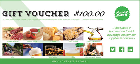 Home Make It Gift Voucher - $100