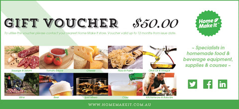 Home Make It Gift Voucher - $50